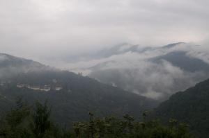 Early morning light near Trongsa Dzong.