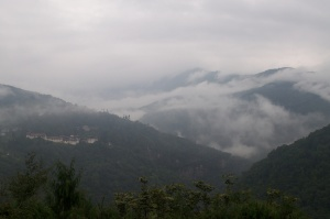 Early morning light near Trongsa Dzong.