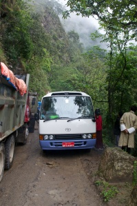 Stuck on the road to Trongsa!