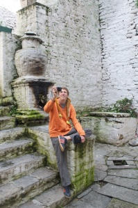 Cole at Trongsa Dzong.