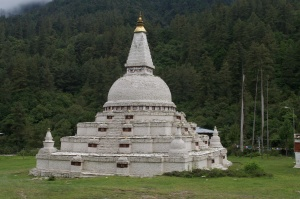 Stupa on the road to Bumthang.