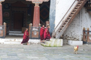 Monks in Trongsa.