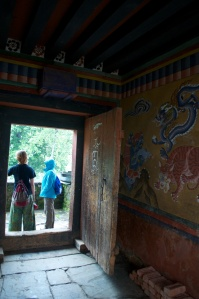 In the Dzong.