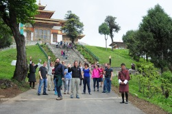 Walking to the Temple.