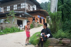 Namgay and a very shy little boy.