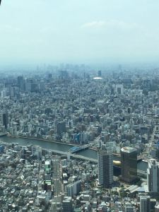 From the lookout deck, Skytree (Tokyo) Tower